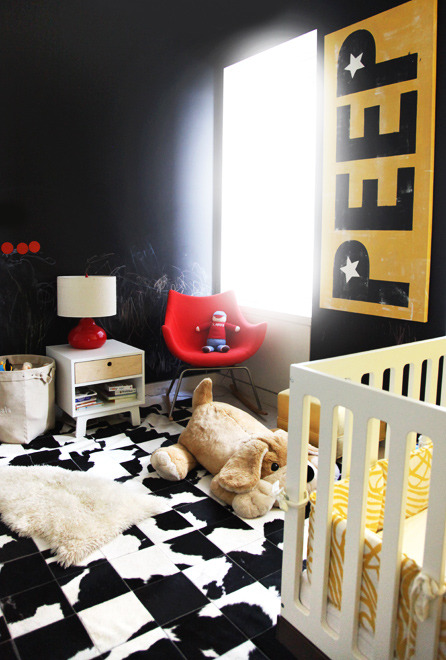 Dark charm in the nursery (via @theglowdotcom). #Design #Interiors