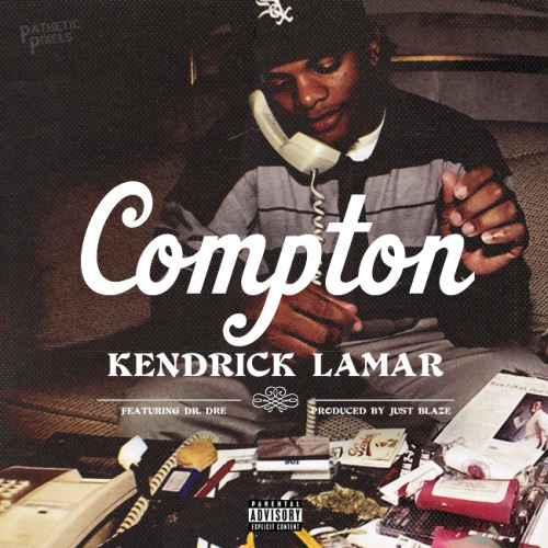fyeahblackhippy:  patheticpixels:  Kendrick Lamar - Compton (Feat. Dr. Dre)  Beautiful cover. Beautiful.