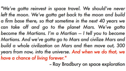"world-shaker:  This ""lost"" interview with Ray Bradbury is the best thing you'll listen to today"