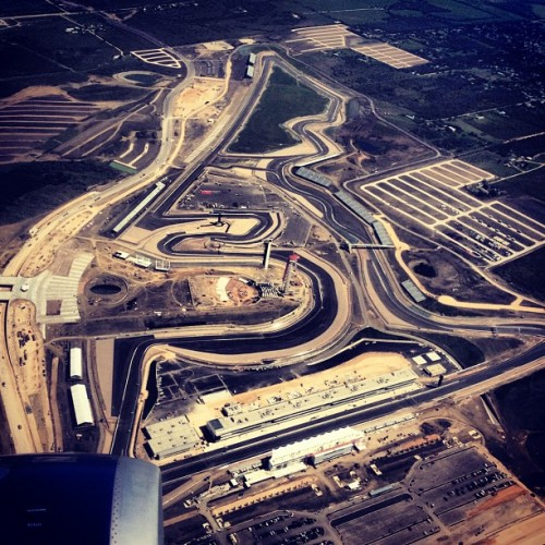 Hey @rachelclarke: #F1 #CircuitOfTheAmericas as seen from takeoff ~ See you next month!! #ATX  (Taken with Instagram)