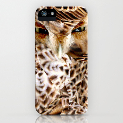 owl camouflage I made now available on society6 as tshirts, iphone cases, prints, and what not!