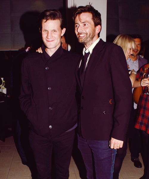 oswiinnoswald:  Matt Smith & David Tennant | Our Boys After Party (October 3)