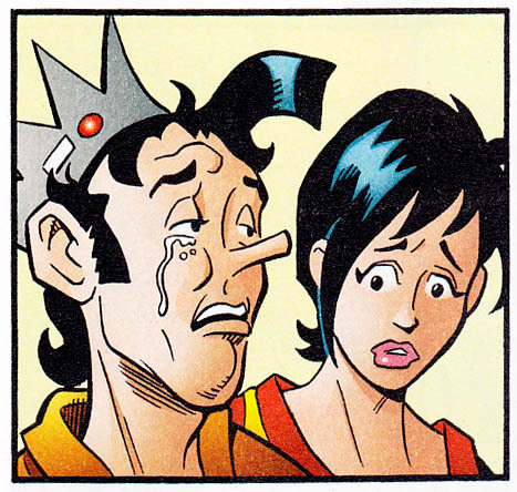 I don't want to suggest I am a CRUEL man, but this panel of crying Jughead makes me cackle like a loon.