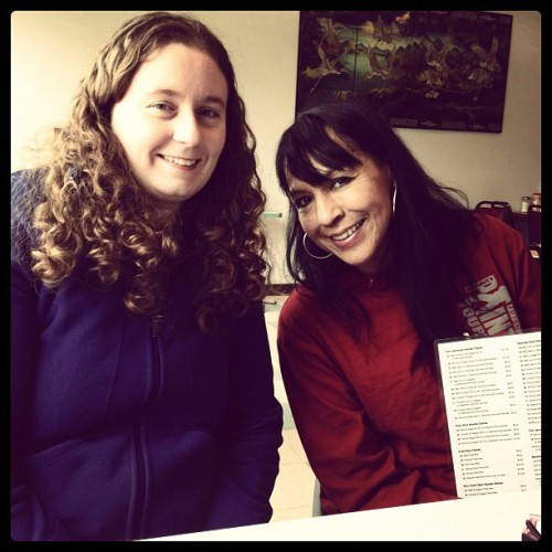 Kelly and Carol after our last day in La Ronge on the CAEA (Taken with Instagram)