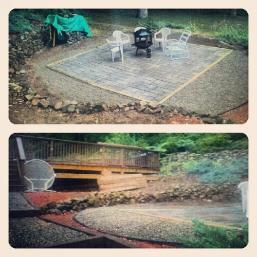 (Day 3) #ThisHappenedToday. #fmsphotoaday yay patio done! (Taken with Instagram)
