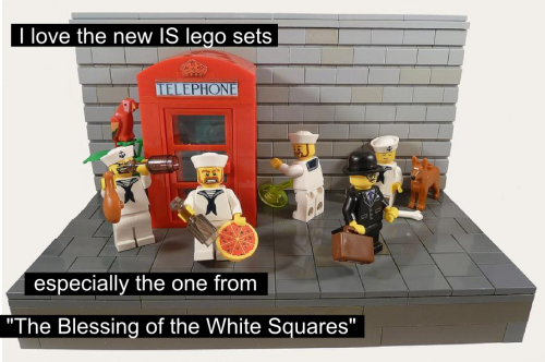 Though I'm not sure why they included the Anti-Inspector minifig in this set. Don't remember him appearing in that episode, but I don't think they watch IS in Denmark. (source)