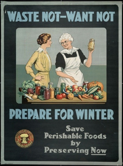 13 Great Posters on Preserving Food, When It Was Life or Death via Tree Hugger credit: McGill Collection