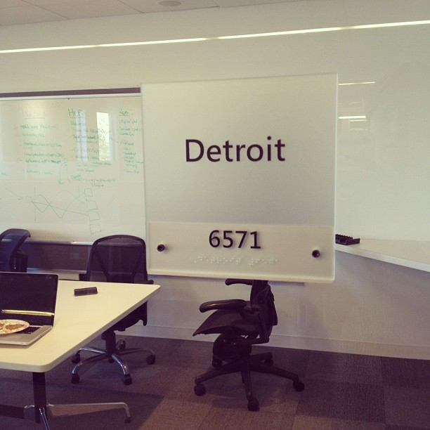 We've got a room called Detroit in our new office space. Sweet. #gklst (Taken with Instagram)