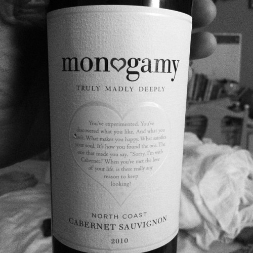 Trying a new wine. (Taken with Instagram)