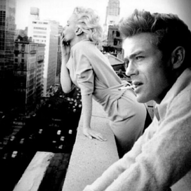#repost #Monroe and #JamesDean.. I #love his fucking #face!  (Taken with Instagram)