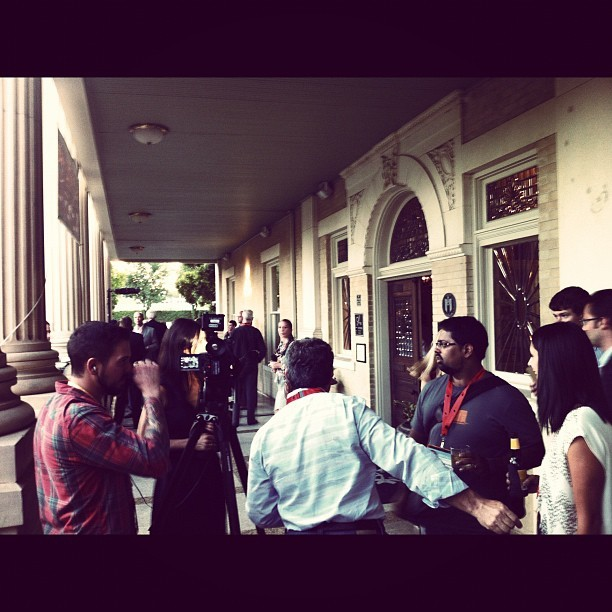 Catching up with some of the startups pitching tomorrow #sxsweco  (Taken with Instagram at Mansion at Judges' Hill)
