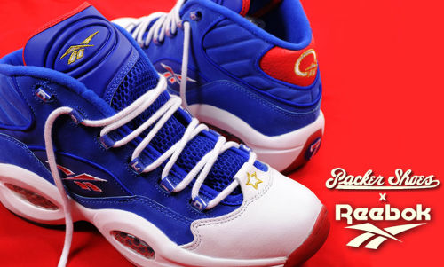 "Packer Shoes x Reebok Question classic colours representing the Philadelphia 76ers.  simple and clean look on these.  click here for more pics Related articles Reebok Question ""#1 Pick"" (sneakernews.com)"