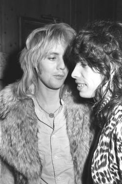 "heavenforfarrokhbulsara:  Roger Taylor and Steven Tyler.  this is where the idea for ""dude looks like a lady"" was born"