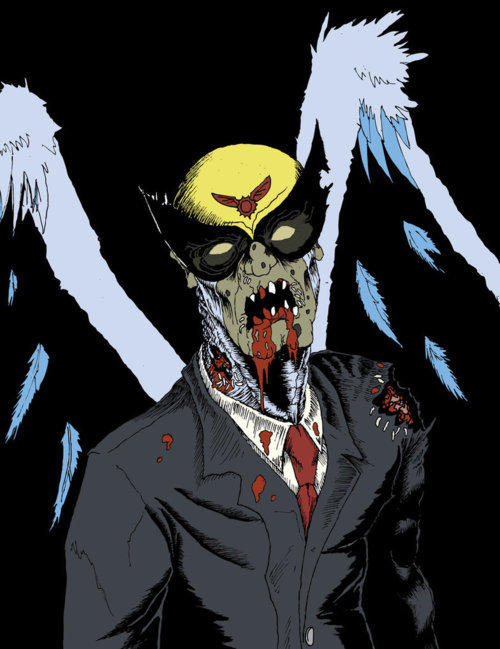 theadultswimpage:  Some fan art of Harvey Birdman, as a zombie, Very Creative.              - [adult swim] fan