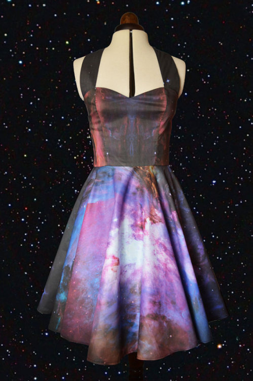 nerdy-etsy-finds:  Space print dress by Cyanidekissx $124.00