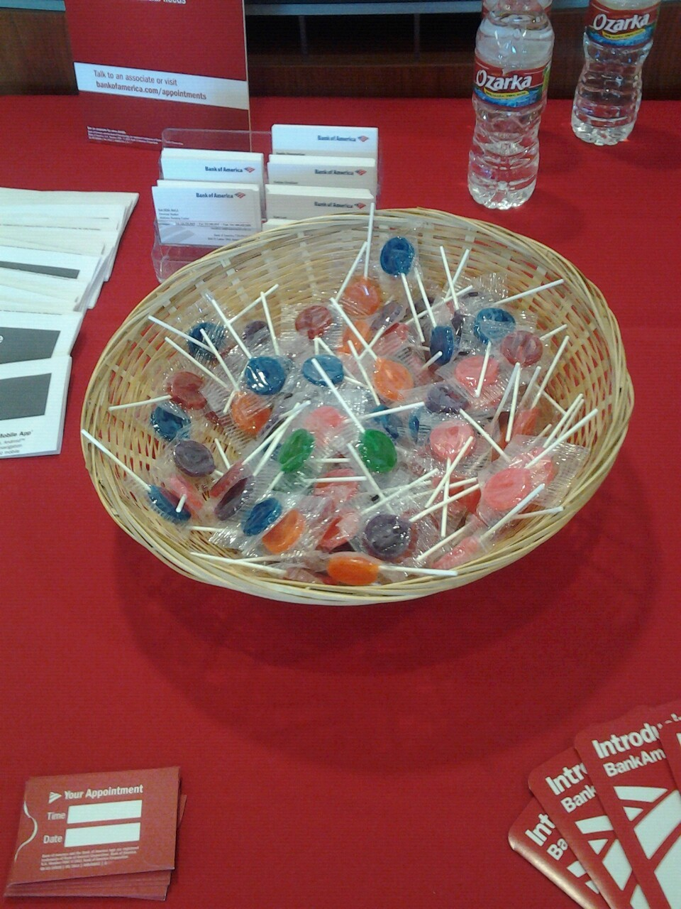 Bank of America table candy
