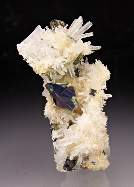 mineralia:  Chalcopyrite with Quartz from Colorado by Dan Weinrich