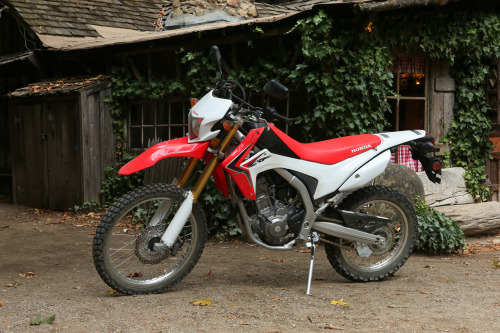"The 2013 CRF250L. $4,500 MSRP, pegged as a do-it-all slash entry level bike. I'm pegging it as a future classic, and the beginning of a return to awesome, sensible motorcycles. I'm a Honda guy and I'm neither a beginner, or a returning rider—aka old guy. Instead I'm just a dude who wants a rad bike that he can rip around the city on, go camping with, and in general have a blast on. I live in California, and I wanted a new dual sport. Most of the bikes on the market are lame, heavy, or expensive—or better yet… all three. The CRF250L is affordable—costs less than the premium being asked for aging dual sports or homogenized ""cafe"" Honda CBs, and additionally it looks pretty alright, and has a license plate. I get mine in a few days, in the meantime here is a stock PR photo."