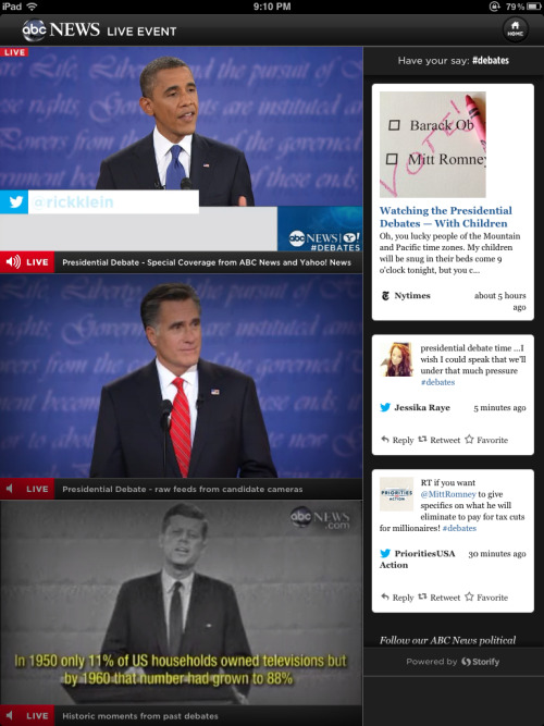 The new paradigm in Presidential #debates. Thanks #Youtube and #ABCNews.