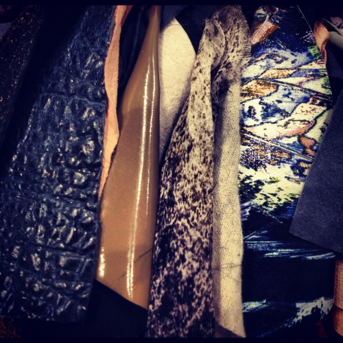 BEHIND THE CURTAIN. HOLIDAY/ PRE-SPRING 12 FABRICS.