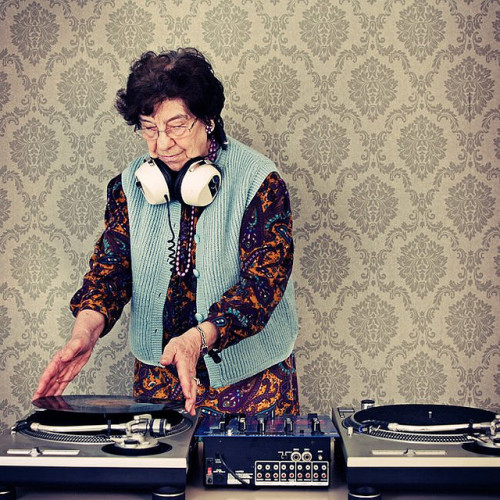 jalylah:  daughtersofdilla:  la-beaute—de-pandore:  DJ Granny by Bizartum on Flickr. Michal Matovcik   !!!