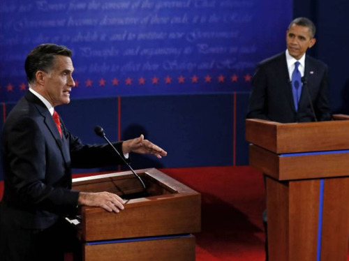 OBAMA: FIVE TRILLION DOLLARS! ROMNEY: HA, FIVE TRILLION DOLLARS? OBAMA: HA, WHAT? ROMNEY: HA, WHAT? OBAMA: WHAT ABOUT EDUCATION? ROMNEY: DID YOU KNOW I'M FROM MASSACHUSETTS? OBAMA: (BILL CLINTON REFERENCE) ROMNEY: (BILL CLINTON REFERENCE) OBAMA: I LIKE WHEN PEOPLE SAY 'OBAMACARE.' ROMNEY: I DON'T KNOW WHAT I'M GOING TO DO AFTER I APPEAL OBAMACARE. OBAMA: I DON'T KNOW WHAT I'M GOING TO DO ABOUT THE DEFICIT. ROMNEY: I DON'T KNOW WHAT I'M GOING TO DO ABOUT THE DEFICIT. OBAMA: (ABRAHAM LINCOLN REFERENCE) ROMNEY: DAMMIT, I SHOULD HAVE USED THAT. THERE'S A MOVIE ABOUT HIM COMING OUT. OBAMA: I'LL STILL FIGHT. ROMNEY: I DON'T KNOW WHAT I'M GOING TO DO AFTER I APPEAL OBAMACARE.