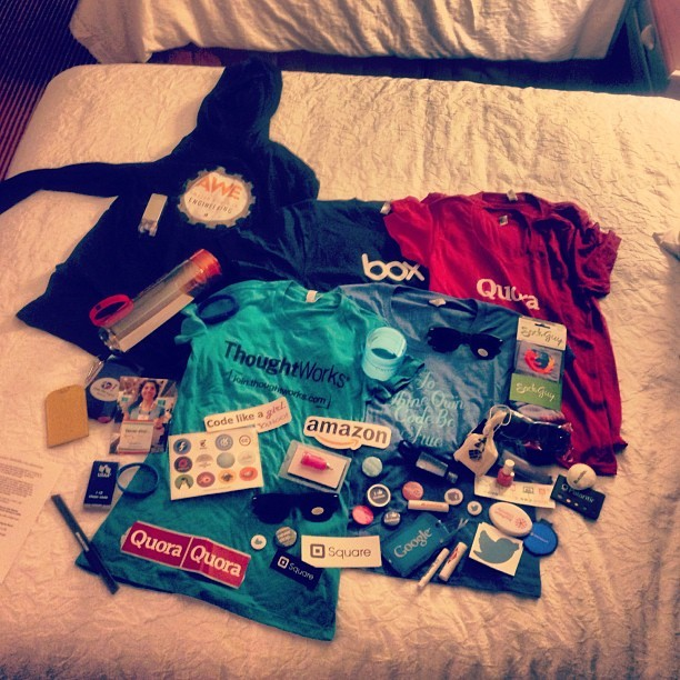 So much #swag and it's only day one of #ghc12  (Taken with Instagram at Grace Hopper Women In Computing Conference)