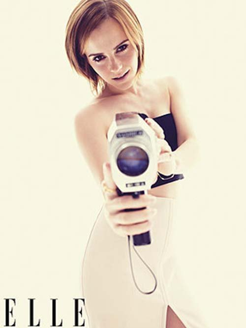 Emma Watson photographed by Alexei Hay for Elle, November 2012