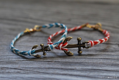 makesomethingmarvelous:  Make fishtail braided Anchor bracelets