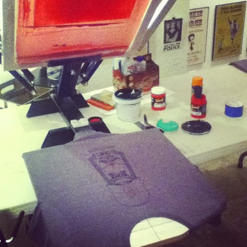 Making lantern shirts!  (Taken with Instagram)