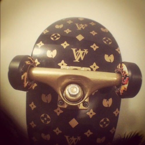 Luxury #skatedeck preview #Wutang brand Limited on deck. #golden (Taken with Instagram)