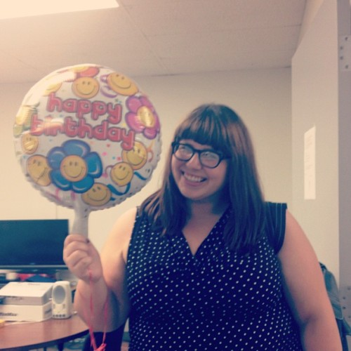And my happy birthday balloon! Thanks for a great day at clinic everyone! (Taken with Instagram at UHM Speech and Hearing Clinic)
