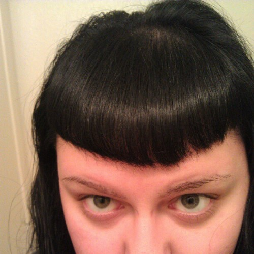 Oh black hair, how I've missed you! #nofilter (Taken with Instagram)