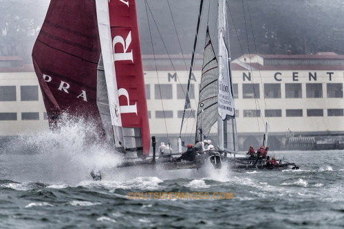 Great day on the water for Americas Cup World Series in some heavy fog