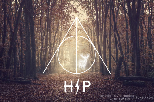 HARRY POTTER (DEATHLY HIPSTER) Desktop Wallpaper by Travis English (akastarwarskid) For more, check out Hipster Movie Posters.