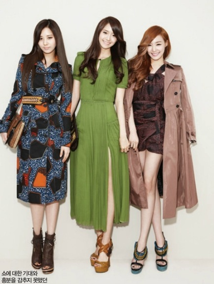 koreanmodel:  SNSD in Burberry by Bae Jung Hee for Harper's Bazaar Korea April 2012