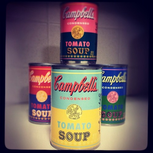 I couldn't resist the #andywarhol #campbells #tomatosoup cans from #target  (Taken with Instagram)