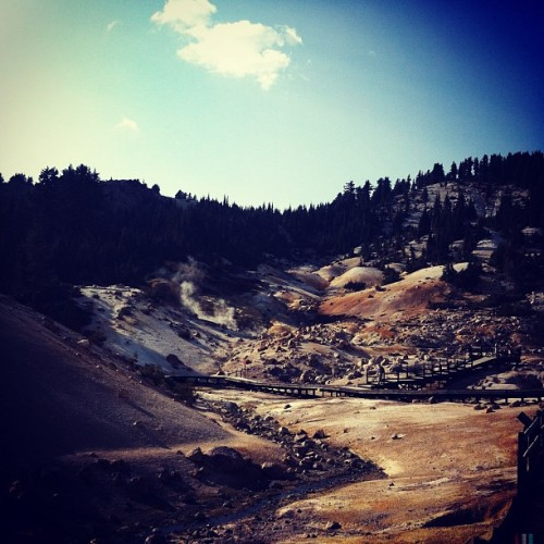 Bumpass Hell, Lassen Volcanic National Park. (Taken with Instagram at Bumpass Hell)
