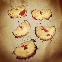 Strawberry/apple handpies. Everything tastes better homemade. (Taken with Instagram at The Impossible Planet)