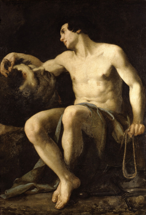 necspenecmetu:  Giovanni Antonio Galli (Lo Spadarino), David with the Head of Goliath, c. 1650