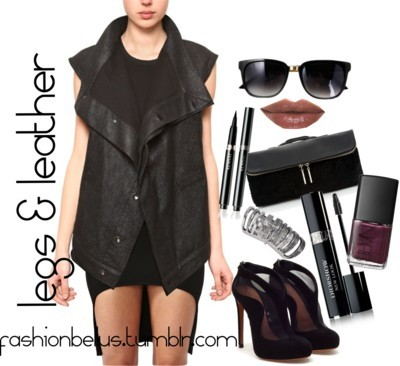 legs & leather. by fashionbellus featuring nars cosmetics