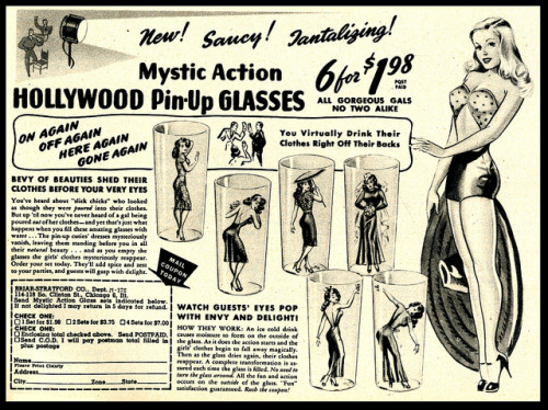 Mystic Action Hollywood Pin-Up Glasses (1946)