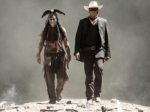 Watch the first trailer for The Lone Ranger Johnny Depp and Armie Hammer saddle up