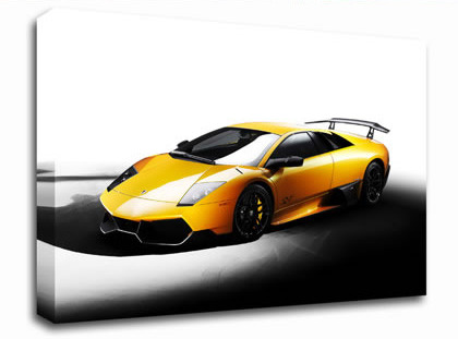 Lamborghini Side Profile Yellow