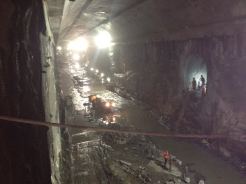 fred-wilson:  a friend got a tour of the 2nd Ave Subway Tunnel and sent me this photo.