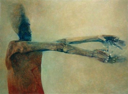 Polish painter, sculptor, and photographer Zdzisław Beksiński.   http://www.beksinski.pl/