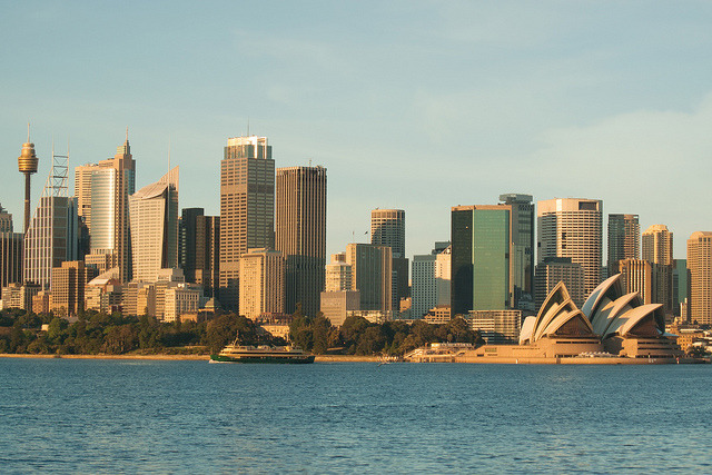 Sydney from Cremorne Point on Flickr.The sun rises ridiculously early these few days, which means getting out of bed at ridiculous hours for sunrise pictures. It was this bright already at 5.54am this morning…zzz….
