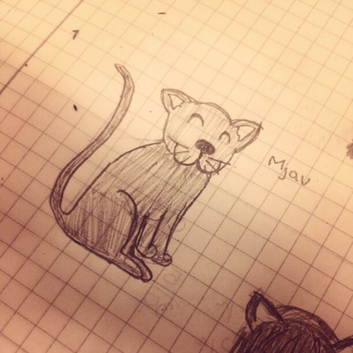 #mjau #meow #bored #doodle  (Taken with Instagram)