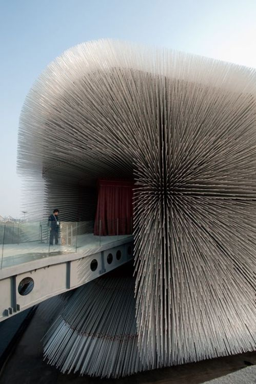 WOW! This building is amazing…  Seed Cathedral by Thomas Heatherwick