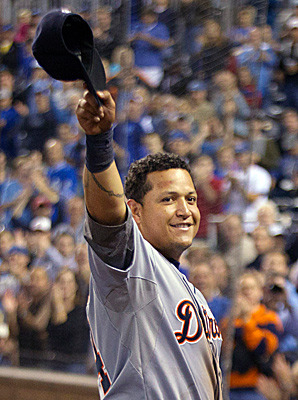 Tigers' Miguel Cabrera wins 1st Triple Crown in 45 years  Cabrera became just the 15th player to win baseball's Triple Crown, joining an elite list that includes Mickey Mantle, Ted Williams and Lou Gehrig. Cabrera topped the American League with a .330 batting average, 44 home runs and 139 RBIs, becoming the first Triple Crown winner in the major leagues since Boston's Carl Yastrzemski in 1967.  In case you missed this last night during the debate — I'm pretty sure it's the exact same audience who cares deeply about health care policy and the Triple Crown — the team of my youth is strongly encouraging me to watch the MLB playoffs.